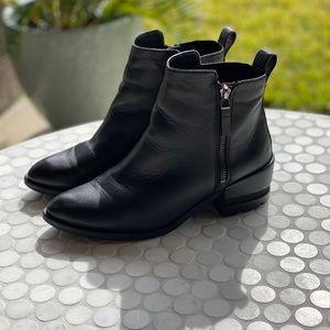 Aldo Vegan Leather Short Black Booties